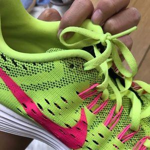 Nike Shoes - Nike Neon Green Lunarlon Sneakers